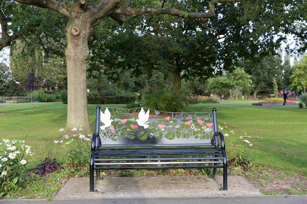Peace Bench in Coalville Park